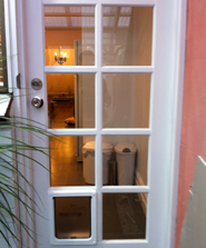 Dog door in Brighton East by Ometek Glass