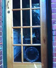 Pet door installation in Hawthorn by Ometek Glass