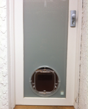 Pet door installation in Seddon by Ometek Glass
